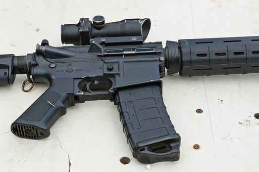 Firearm, Gun, Weapon, Rifle, Ammo, Clip, Scope, Storage