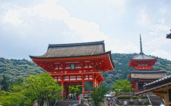 Shrine, Pagoda, Gate, Shinto, Kiyomizudera, Kyoto