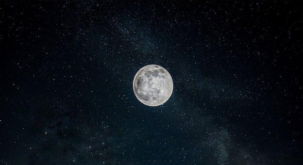 Moon, Sky, Night, Stars, Starry, Night Sky, Moonlight