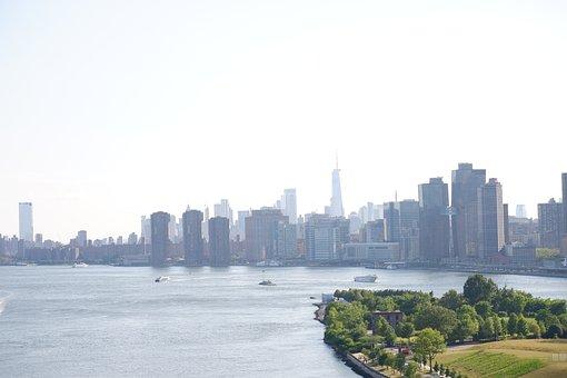 Buildings, Ocean, Urban, Modern, New York, Skyline