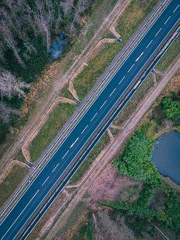 Road, Bird's Eye View, Drone Photography, Street