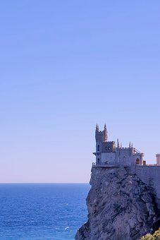 Crimea, Swallow's Nest, Sky, Castle, Yalta, Sea, Rocks