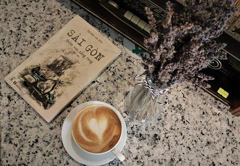 Cappuccino, Coffee, Book, Espresso, Cup, Caffeine