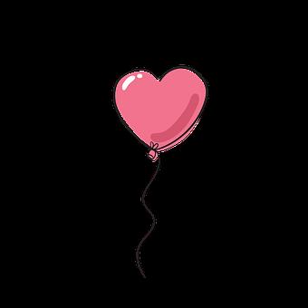 Heart, Balloon, Heart Shaped, Doodle, Hand-drawn