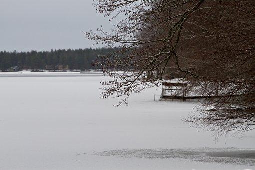 Lake, Frozen, Snow, Frozen Lake, Winter, Ice, Cold