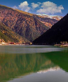 Lake, Mountains, Reflection, Water, Scenery, Scenic