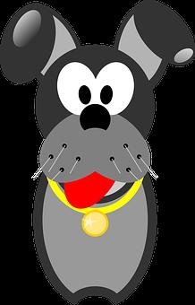 Dog, Ears, Animal, Medal, Eyes, Animated, Portrait