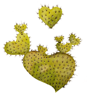 Cactus, Watercolor, Valentine, Heart, Love, Romantic