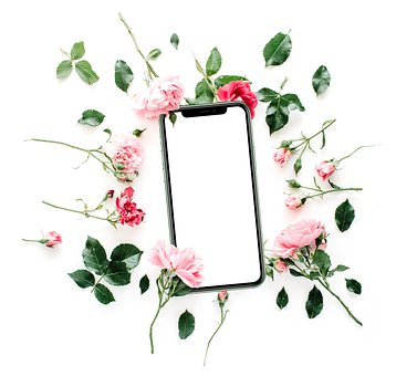 Flowers, Mobile Phone, Roses, Smartphone, Cellphone