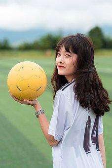 Girl, Soccer, Player, Soccer Ball, Soccer Player