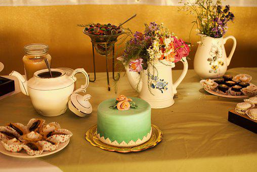 Cake, Pastries, Table, Buffet Table, Desset Table