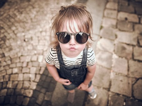 Girl, Kid, Sunglasses, Pout, Toddler, Baby, Child