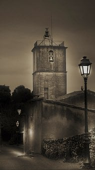 Tower, Building, Lamp Post, Street Light, Bell Tower