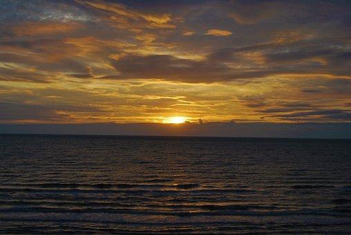 Sunset, Sea, Clouds, Sky, Sun, Seascape, Skyscape