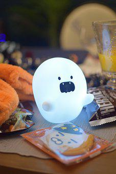 Ghost, Lamp, Light, Cookies, Candy, Sweets, Decoration