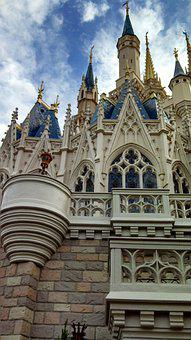 Disney World, Castle, Cinderella, Princess, Disney