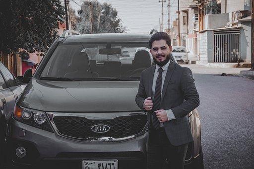Man, Young, Car, Happy, Smile, Suit, Formal, Elegant