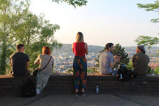 Stuttgart, City, Germany, Sky, Houses, Park, Tourism