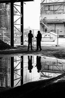 Mirroring, Man, Site, Reflection, Building, Water