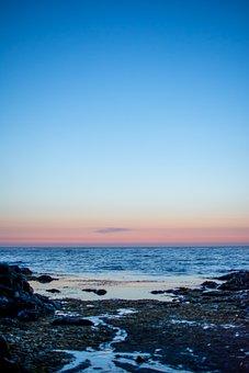 Atlantic Ocean, Ocean, Sea, Sunset, Blue, Holiday
