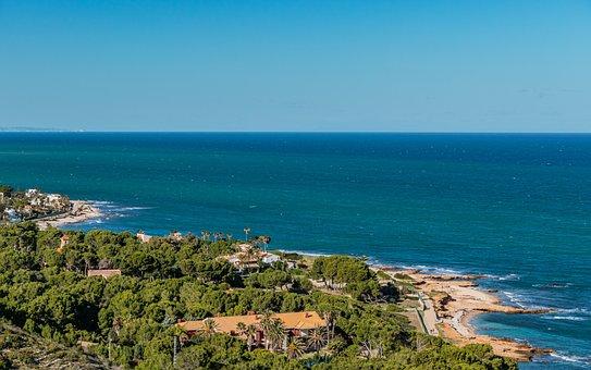 House, Sea, Coast, Vegetation, Sky, Nature, View