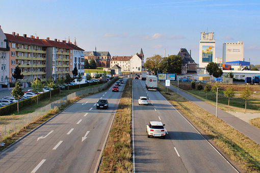Road, Federal Street, Worms, B9, Traffic, Overtaking