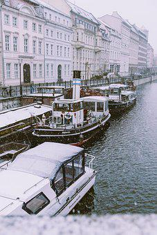 River, Boats, Buildings, Water, River Boats