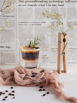 Coffee, Espresso, Cups, Brown, Barista, Drink, Retro
