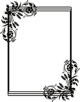 Art Deco Frame, Frame, Border, Corner, Floral, Scroll