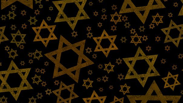 Star Of David, Gold, Magen David, Dramatic, Dark, David