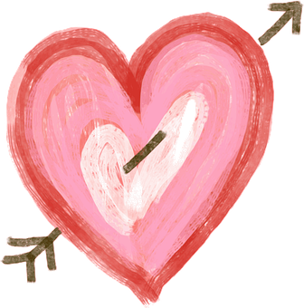 Heart, Cupid, Arrow, Shape, Love, Watercolor, Doodle