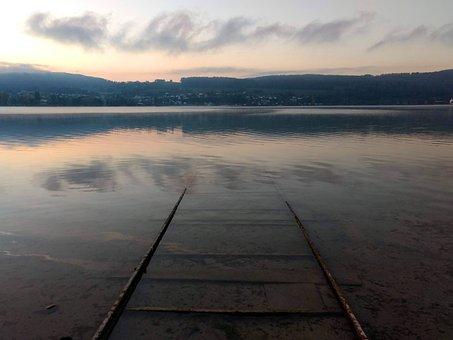 Lake, Lighting, Lake Constance, Evening, Sky, Landscape