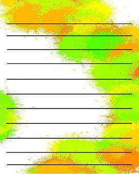 Stationary, Stationery, Paper, Digital, Color, Memo