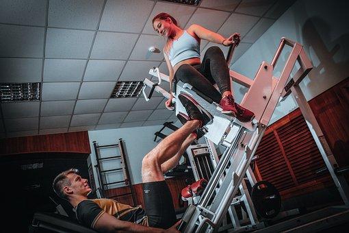 Man, Woman, Workout, Fitness Models, Reap, Leg Press