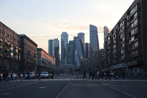 Moscow, Street, Russia, City, Megalopolis, Building