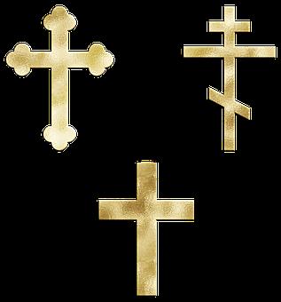 Gold Foil Cross, Religion, Jesus, Church, God