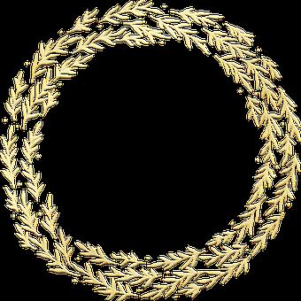 Gold Foil, Wreath, Frame, Gold Foil Wreath, Leaves