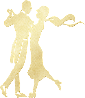 Couple, Dancing, Gold Foil, Gatsby, Woman, Man, Lovers