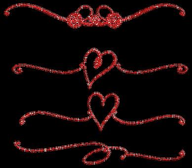 Dividers, Heart, Flourish, Heart Dividers, Ornamental