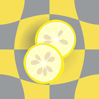 Diamonds, Pattern, Distortion, Lemon, Slice Of Lemon