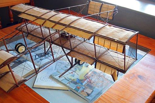Model Aircraft, Scale Model, Biplane, Box-kite, Canvas