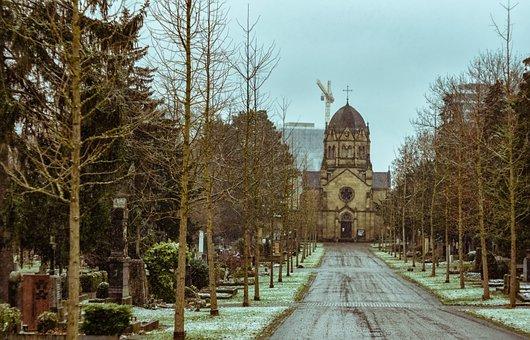 Prague Cemetery, Church, Cemetery, Stuttgart, Trees