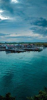 Town, Port, Lake, River, Boats, Harbor, Buildings