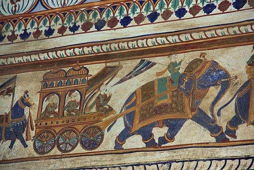 India, Shekhawati, Haveli, Decoration, Architecture