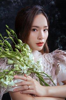 Woman, Beauty, Flowers, Beautiful, Pretty, Attractive
