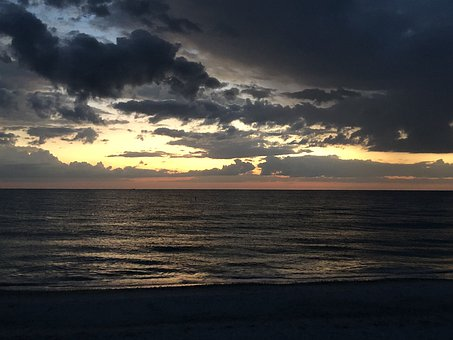 Dusk, Beach, Scenery