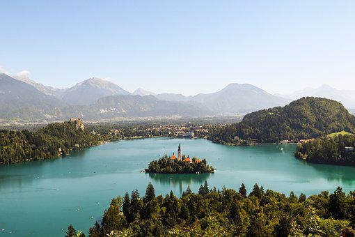 Bled, Lake, Island, Church, Landmark