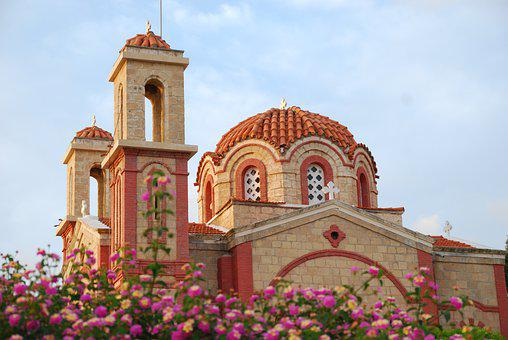 Church, Dome, Cathedral, Building, Architecture, Cyprus