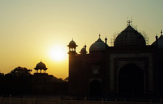 India, Sunset, Twilight, Agra, Taj-mahal, Taj Mahal