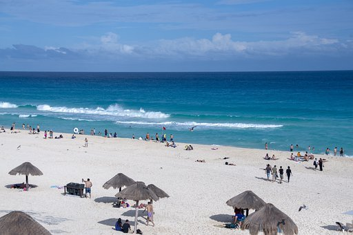 Beach, Cancun, Mexico, Sea, Caribbean, Summer, Travel